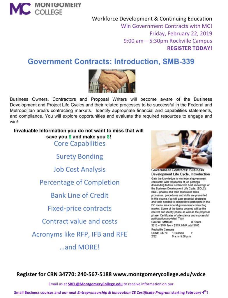 Win With MC Government Contract Training